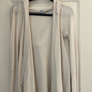 Women's splendid hooded cream sweater
